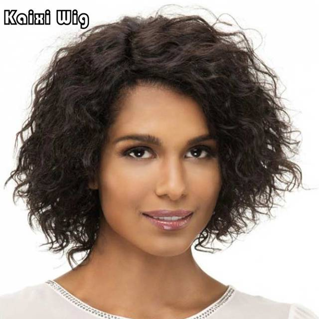 Short Afro Kinky Curly Wigs For Black Women Afro Curly Hair Style ...