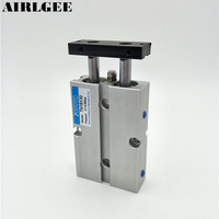 Dual Acting 16mm Bore 30mm Stroke Double Rod Pneumatic Air Cylinder Free Shipping