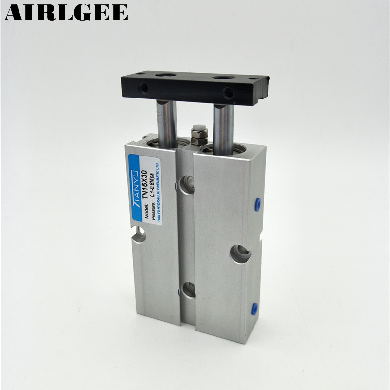 TN16x30 Dual Acting 16mm Bore 30mm Stroke Double Rod Pneumatic Air Cylinder Free Shipping 16 30 x 45см