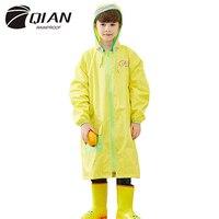 Дождевик с длинным желтым карманом Детский водонепроницаемый уличный дождевик детский с капюшоном Jas Hujan Anak пластиковый дождевик 50yc117