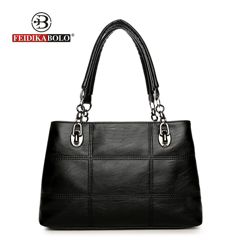Fashion Brand Tote Bag Patchwork Shoulder Bag Women Large High Quality Pu Leather Luxury Handbags Women Bags Designer New Style 2017 new women s handbags fashion shoulder bags messenger bag pu leather tote high quality shopping bag large capacity