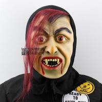 Free Size Red Eye Red Hair Witch Mask Prank Prop Scary Halloween House Of Terror Mask