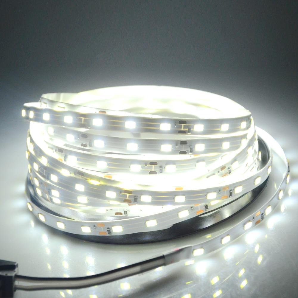 5 Meters 5630 LED Strip Light DC 12V 300 LEDs Diode Tape Light Flexible High Lumen Home Indoor Decoration TV Background Lighting
