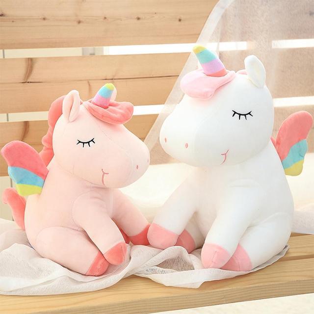 Rainbow One Horned Little Beast Horse Stuffed Animal Doll Girl Heart