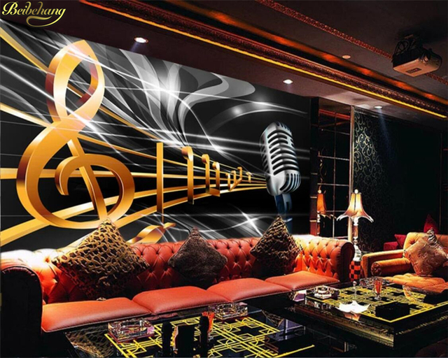 US $9 3 38% OFF|beibehang Custom photo wallpaper mural dynamic music symbol  bar KTV box background wall papers home decor papel de parede-in