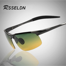 RSSELDN Aluminum And Polarized Magnesium Alloy Men's Sunglasses Luxury Brand HD Tinted Glasses Driving Spectacles RS0031