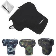 Неопрен Камера чехол сумка для цифрового фотоаппарата Panasonic LUMIX DMC G7 G8 G6 G5 G3 GH4 GH3 G85 G80 G81 G95 G90, украшенное мозаикой из драгоценных камней, 12-60 мм 45-150 мм 14-140 мм объектив