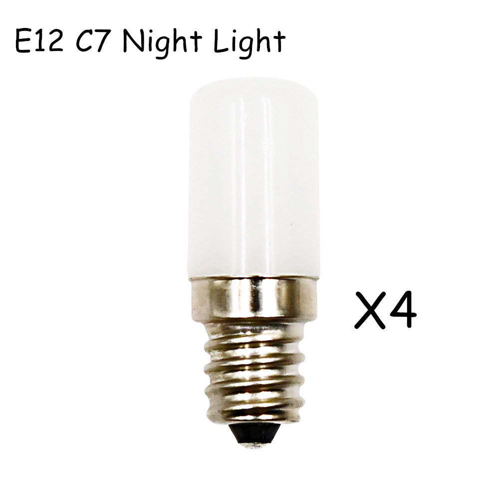 Us 14 2 0 5 Watts Mini E12 Led C7 Night Light Bulb 80 Lumen 10w Replacement Warm White 3000k Cold 6000k Lamp In Bulbs