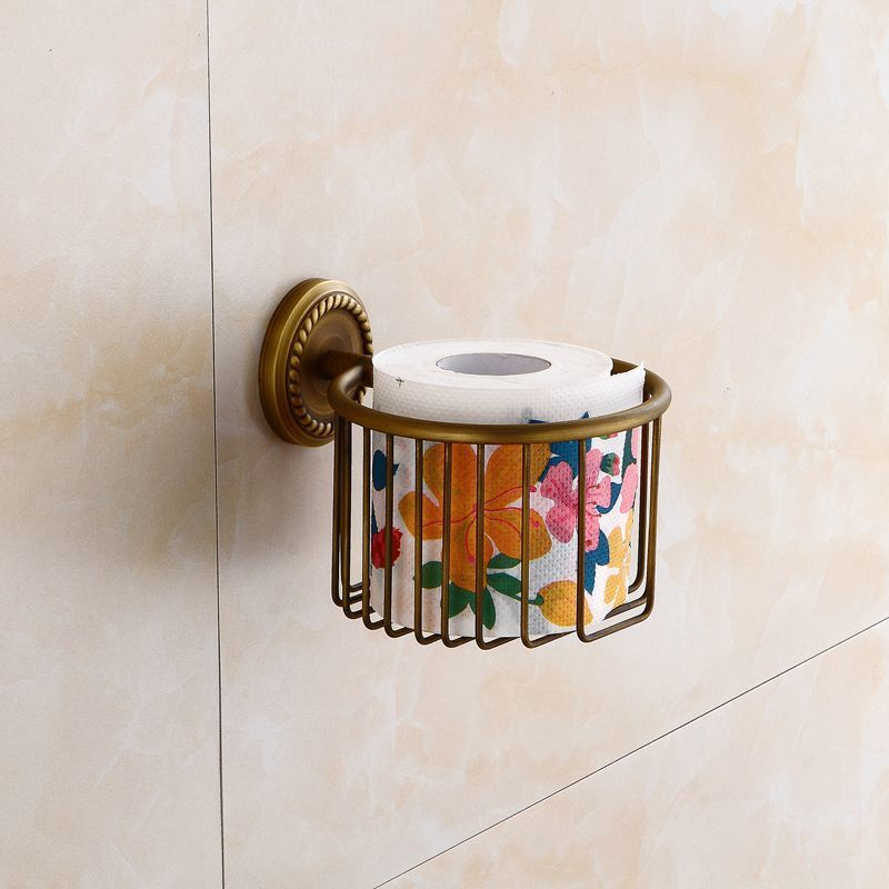 Toilet Paper Holders Suction Golden Luxurious Wall Mounted