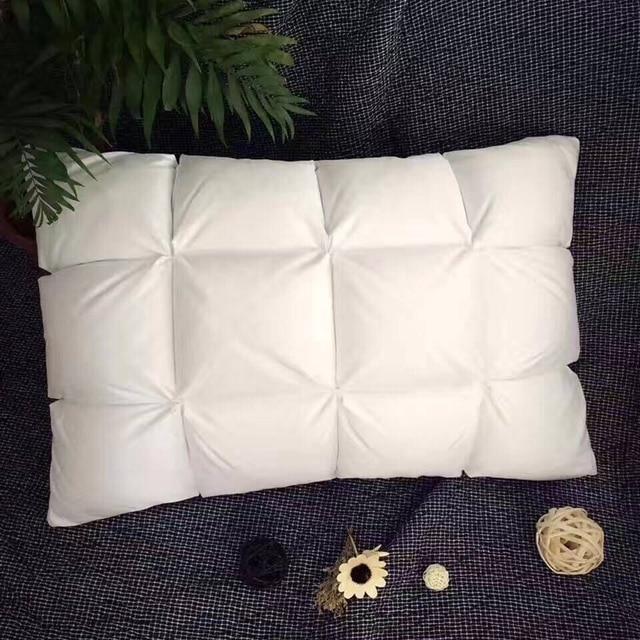 haute qualite sommeil oreiller 1 pc duvet d oie oreiller double pont conception