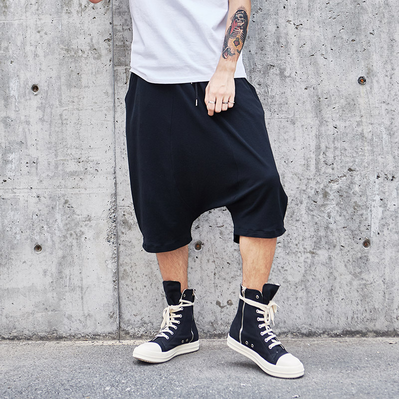Leg-Trousers Pant Harem Loose Punk Male High-Street Summer Casual Hip-Hop Wide Low-Cortch
