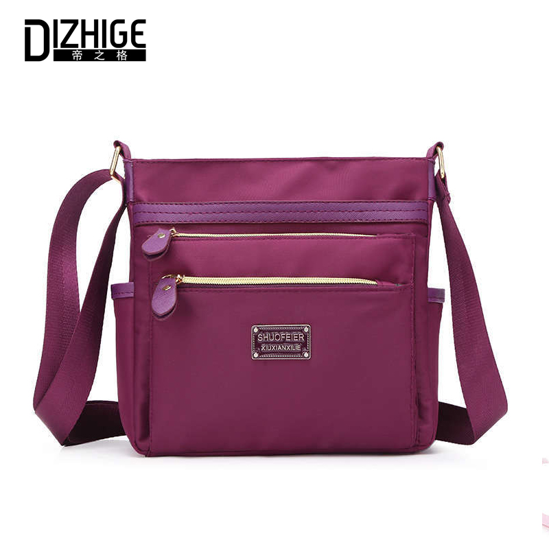 DIZHIGE Brand Fashion Multi pocket Oxford Women Shoulder Bag High Quality Crossbody Bag For Women Solid Zipper Messenger Bag New in Top Handle Bags from Luggage Bags