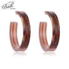 Badu Wide Open Cuff Earring Studs 2018 Women Fashion Jewelry Round Acetic Acid Earrings Halloween Party Wholesale
