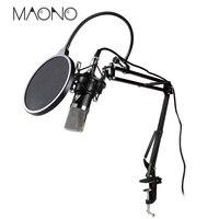 MAONO professional condenser microphone stand Mic Voice Amplifier pop filter for computer audio studio vocal Rrecording karaoke