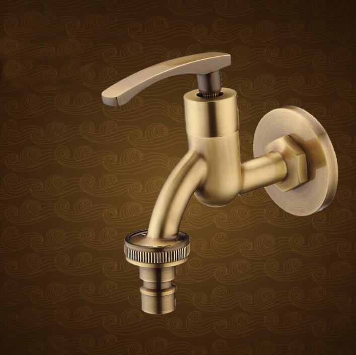 High Quality Long Antique brass decorative garden faucets single ...