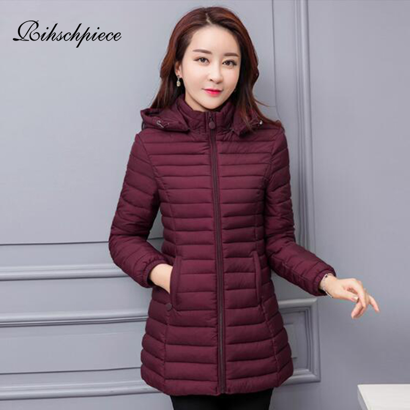Rihschpiece Winter Plus Size 6XL Long   Parka   Women Jacket Cotton Padded Warm Hoodie Jacket Thick Clothes Black Coat RZF1518