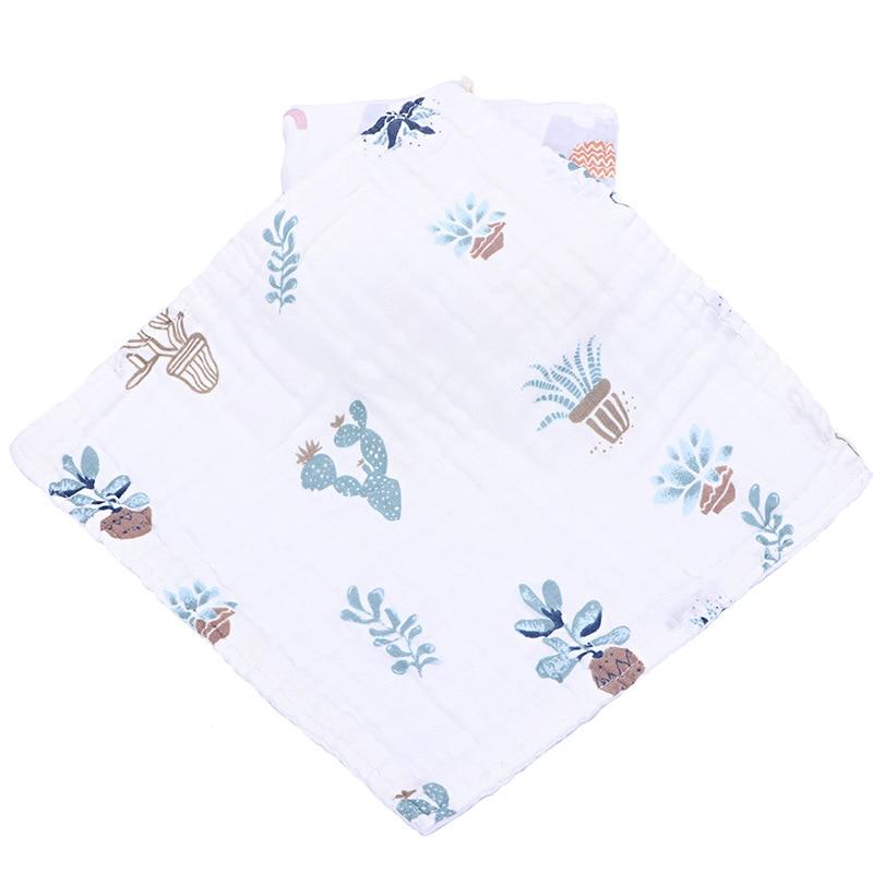 Купить с кэшбэком 3pcs/lot baby towel 100% cotton infant towels newborn square kids soft feeding towel Saliva Bibs Baby Saliva Nursing Towels