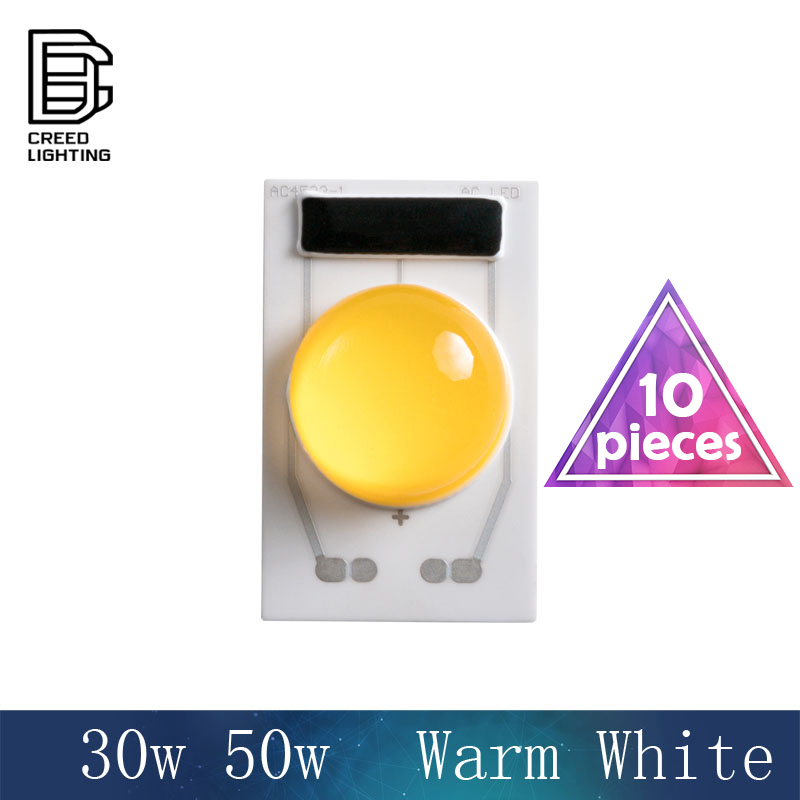 4525 LED COB lampe puce 30 W 50 W AC 110 V 220 V blanc chaud entrée Smart IC pilote adapté pour bricolage éclairage LED projecteur