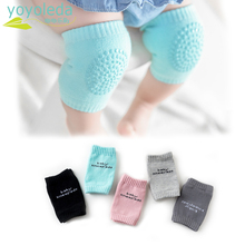 Высококачественные носки для малышей; удобные детские наколенники для ползания; хлопковые нескользящие резиновые наколенники; дышащие плотные теплые