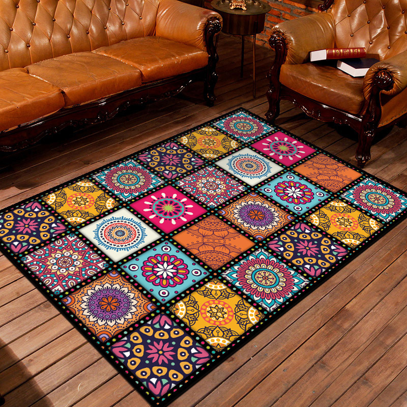Modern Geometric Home Mat Room Area Rug Floor Carpet For Living Room Bedroom Large Trellis Design Cat Tapete Para Sala Alfombra