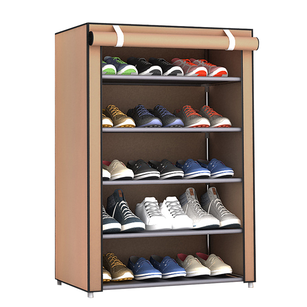 Многослойная стойка для хранения обуви бытовые принадлежности для экономии пространства практичные домашние мешки для хранения обуви вешалка для хранения шкафа - Цвет: six layers coffee