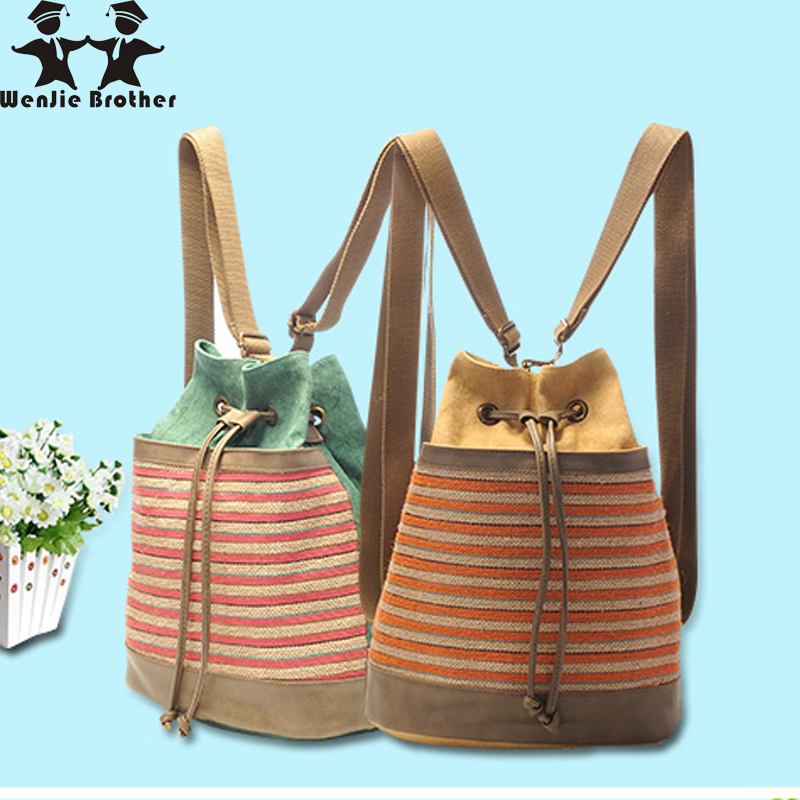 wenjie brother literatur Women Canvas Backpacks Ladies Shoulder School Bag Rucksack For Girls Travel Fashion Bag Bolsas Mochilas