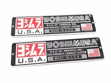 2 pcs aluminum Motorcycle reflective applique sticker exhaust pipe electric pedal automobile race decoration yoshimura stickers
