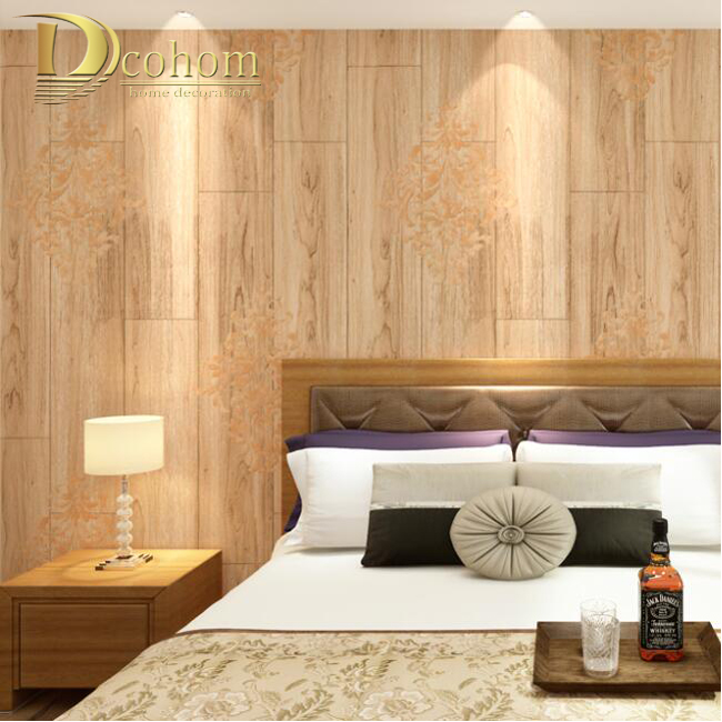 Buy fashion modern striped woods for Wallpaper decoration for bedroom