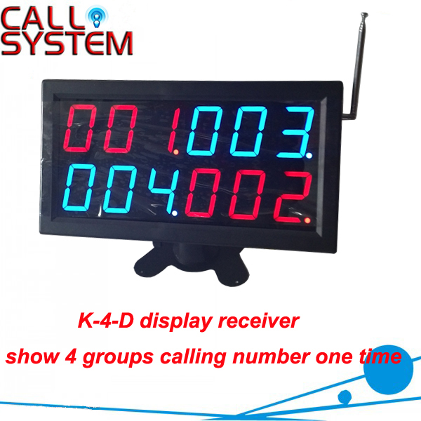 Restaurant Number Calling System Display Monitor K-4-D display 4 groups calling number one timeRestaurant Number Calling System Display Monitor K-4-D display 4 groups calling number one time