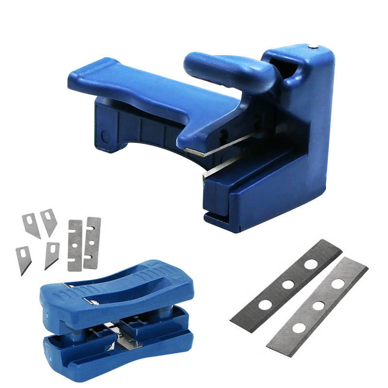 Edge banding machine trimming device Block device Wood Double edge Head and tail trimmer for carpenter PVC Binding strip
