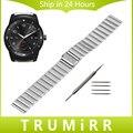 22 мм Из Нержавеющей Стали Часы Ремешок Ремешок Браслет Ссылка для LG G Watch W100/R W110/Вежливый W150 ASUS Zenwatch 1 2 Галечный время