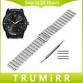 22mm de acero inoxidable reloj band atar con correa brazalete para lg g watch w100/r w110/urbano w150 asus zenwatch 1 2 guijarro tiempo