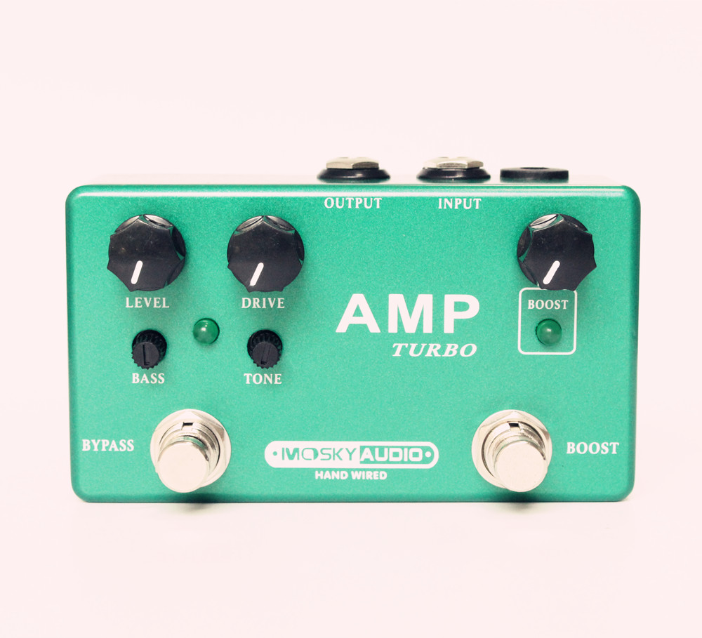 NEW Hand-Made AMP TUBE / DELUXE PREAMP Guitar Effect Pedal Boost And Overdrive 2 Effects In 1 With True Bypass