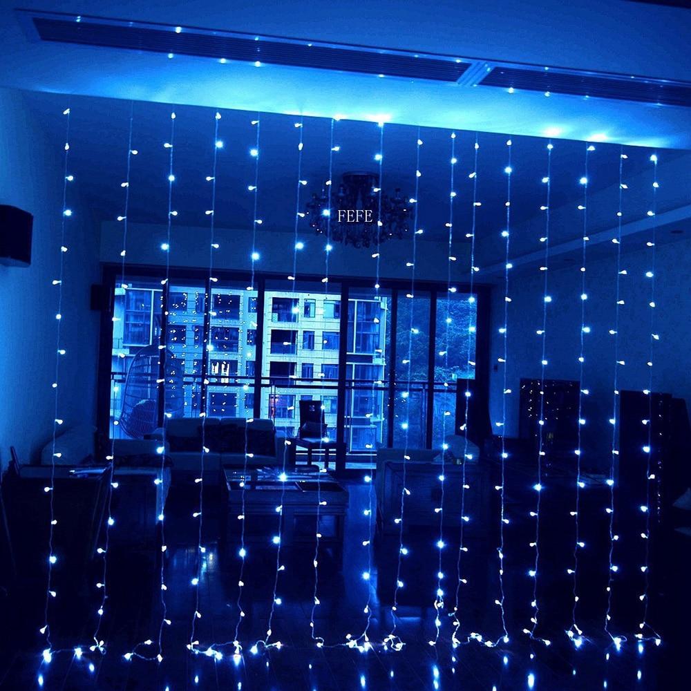 cortina de led luz da corda icicle 02