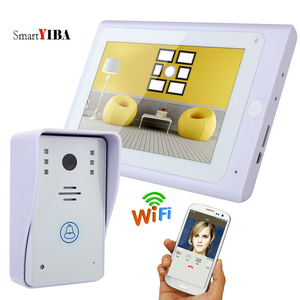 SmartYIBA WIFI APP Control HD White Screen Wireless Video Doorbell Video Record Doorphone Apartment Intercom SystemSmartYIBA WIFI APP Control HD White Screen Wireless Video Doorbell Video Record Doorphone Apartment Intercom System