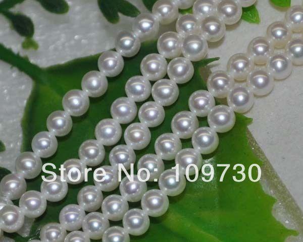 Bijoux 0052 exceptionnelle blanc naturel AAA 3 mm ronde perles d'eau douce