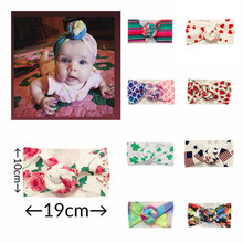 9 Colors Infant Headbands Kont Turban Headband For Girls Spandx Stretchy Headwear Baby Hair Accessorie