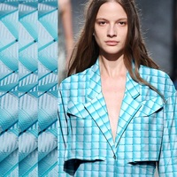 2017Sky blue, checkered plaid, imported fabric for air fashion