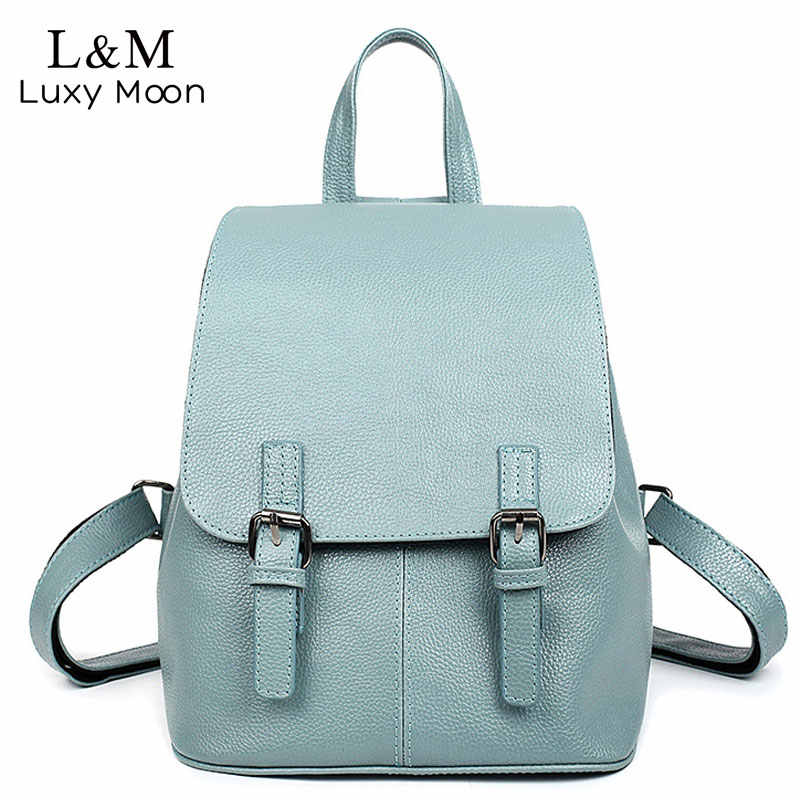 84f99a8e0151 Leather Backpacks For Women 2018 Fashion Rucksack Small Backpacks Girls  Solid Color Female BagsTravel Bagpack mochilas