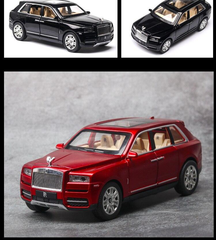 Rolls Royces Cullinan SUV Model Car with Metal Wheels, Sound & Lights 18