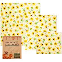 3 шт пчелиный воск Еда обертывания комплекты маленький средний и большой Еда обложки многоразовые экологические моющийся Еда обертывания Zero Waste