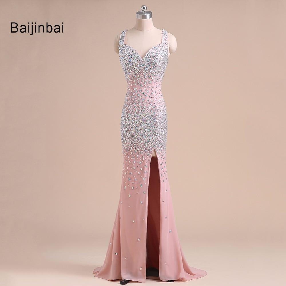 Baijinbai Lujo Nueva Moda Rosa Elegante Vestidos de Noche 2019 - Vestidos para ocasiones especiales