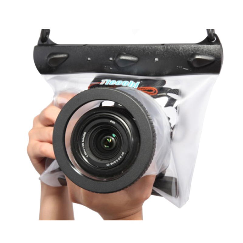 Tteoobl GQ-518M 20m Underwater Diving Camera Housing Case Pouch Dry Bag Camera Waterproof Dry Bag for Canon Nikon DSLR SLR nereus 10 meter waterproof housing kit for digital camera dc wp20