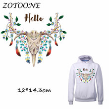 ZOTOONE Patches Iron on Transfers DIY Accessory Decoration Feather Flower Patch for Clothing Print T-shirt Applique Clothes C