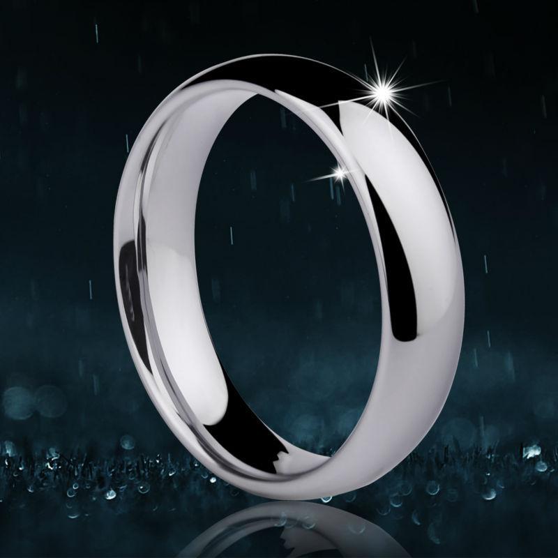 Fertigen Sie 1 PCS-klassisches Design-Wolfram-Ringe für Paare-Eheringe-Hauben-Band 3.5mm / 5mm Breite-Größe 4-14 mit freiem Stich