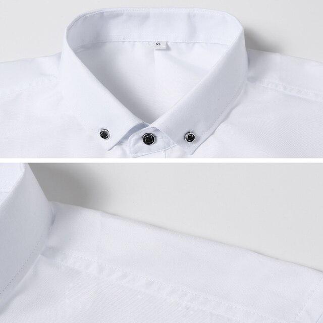 Men Long Sleeve Slim Fit Button-Down Dress Shirt