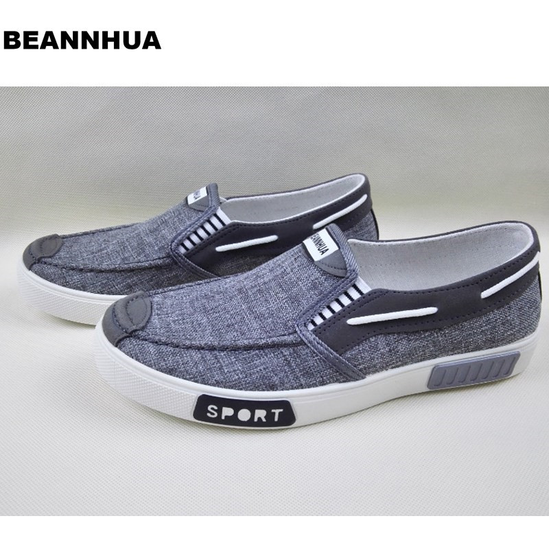 BEANNHUA Brand  New Styles  Men Casual Shoes Grey Color  Drop shipping-in Men's Casual Shoes from Shoes    1