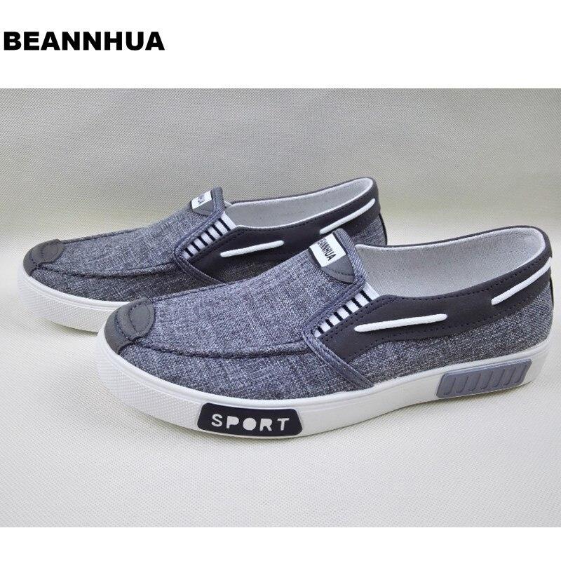 Ayakk.'ten Erkek Rahat Ayakkabılar'de BEANNHUA Marka Yeni Stiller Erkekler rahat ayakkabılar Gri Renk Drop shipping'da  Grup 1
