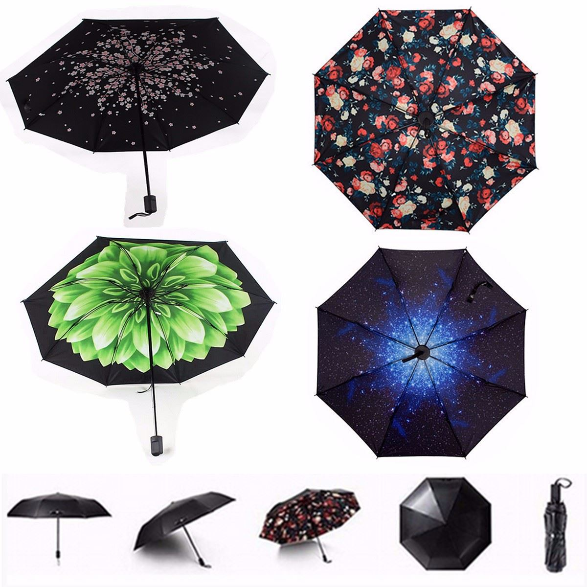 Portable Compact Rainproof Umbrella Windproof Anti Uv Rain Sun Proof Folding Paraguas Parasol Gear Supplies In Umbrellas From Home Garden On