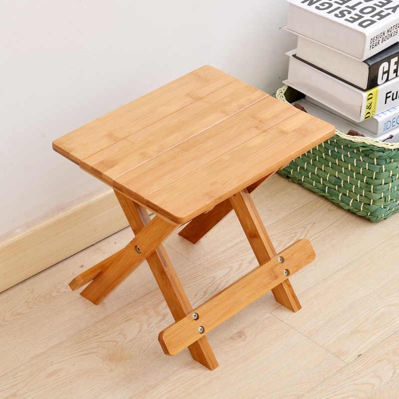 Высококачественный бамбуковый стул скамейка табурет Деревянный Портативный складной ручной стул Envionmetally материал Досуг подарок для родителей